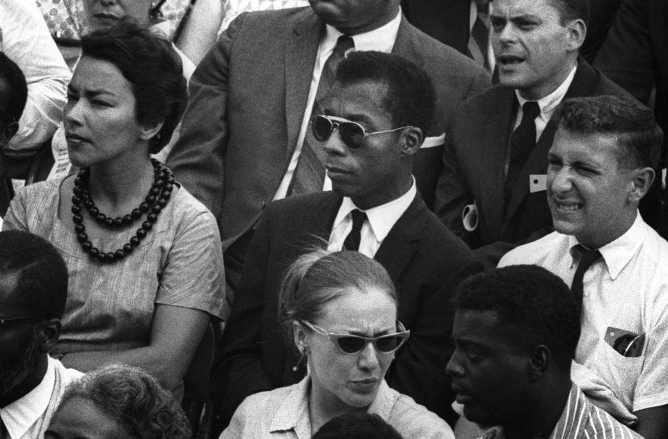 "An image of James Baldwin from ""I Am Not Your Negro."""
